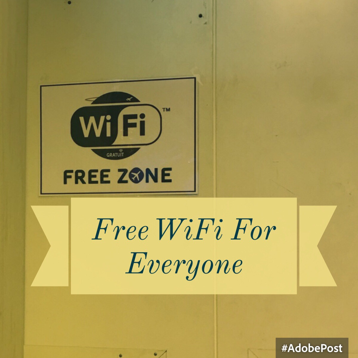 Free wifi for everyone just a carry on free wifi for everyone platinumwayz